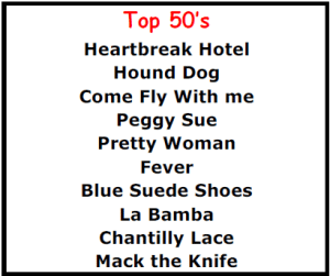 Top Karaoke Songs - Top 50's