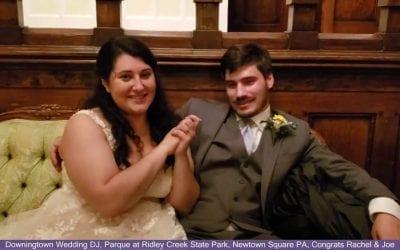 Congrats Rachel & Joe, Downingtown Wedding DJ, Parque  Ridley Creek, Newtown Square PA