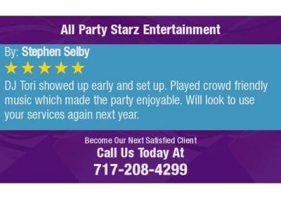 Reading Pa Wedding Dj, Karaoke Dj, Trivia Dj,Dj Tori All Party Starz Entertainment 01