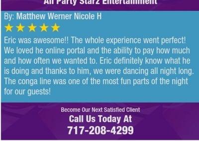 Lancaster Pa Dj Reviews Eric Godfrey All Party Starz 05 1