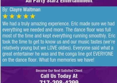 Lancaster Pa Dj Reviews Eric Godfrey All Party Starz 07 1
