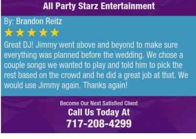 Lancaster Pa Dj Reviews Jimmy Rodriguez All Party Starz 01 2