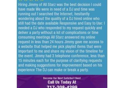 Lancaster Pa Dj Reviews Jimmy Rodriguez All Party Starz 05 2