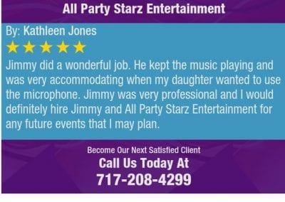 Lancaster Pa Dj Reviews Jimmy Rodriguez All Party Starz 08 2