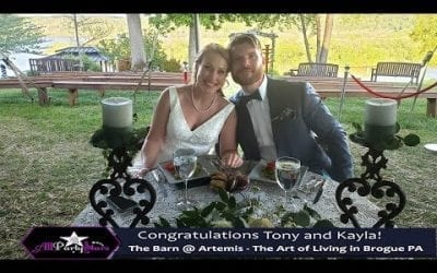 York Wedding DJ Review @ Artemis – The Art of Living The Barn in Brogue PA. Congrats Tony and Kayla!